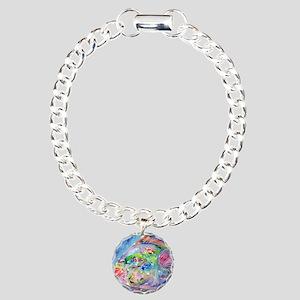 Blue Fish, art, Charm Bracelet, One Charm