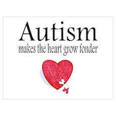 Autism Makes The Heart Grow Fonder Pri Poster