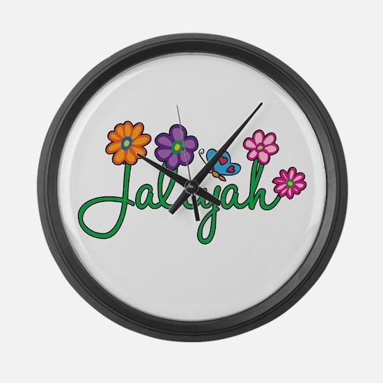 Jaliyah Flowers Large Wall Clock