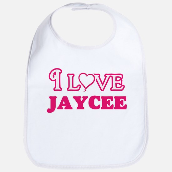 I Love Jaycee Baby Bib