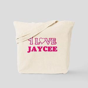 I Love Jaycee Tote Bag