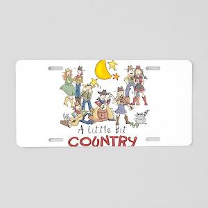 Little Bit Country Aluminum License Plate