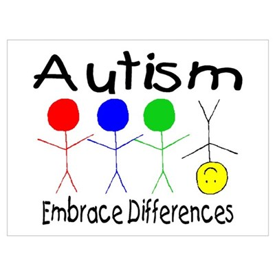 autism embrace differences poster