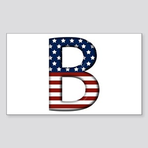B Stars and Stripes Rectangle Sticker