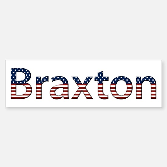 Braxton Stars and Stripes Bumper Car Car Sticker