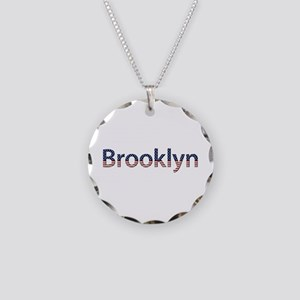 Brooklyn Stars and Stripes Necklace Circle Charm