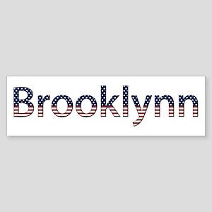 Brooklynn Stars and Stripes Bumper Sticker