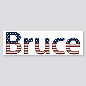 Bruce Stars and Stripes Bumper Sticker