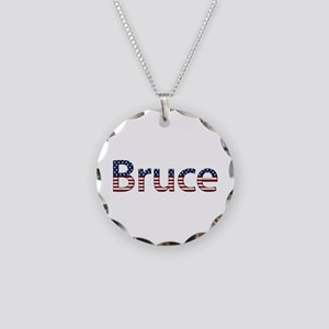 Bruce Stars and Stripes Necklace Circle Charm
