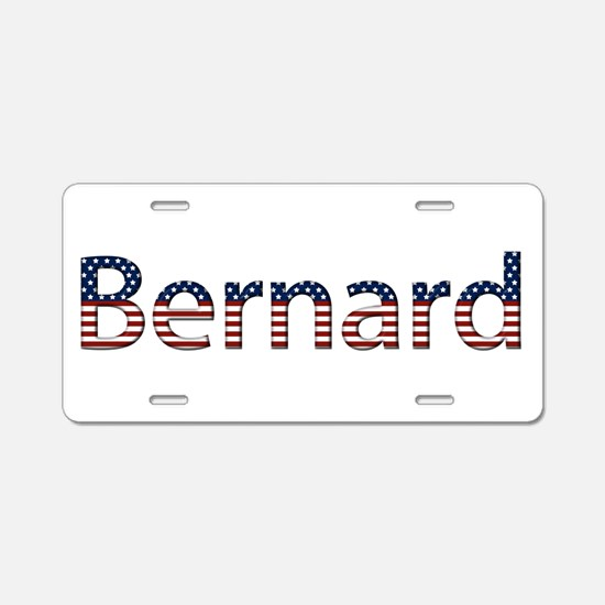Bernard Stars and Stripes Aluminum License Plate