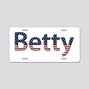 Betty Stars and Stripes Aluminum License Plate