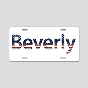 Beverly Stars and Stripes Aluminum License Plate