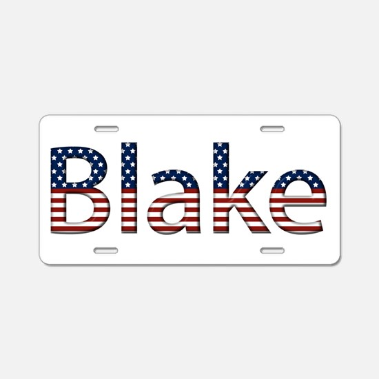 Blake Stars and Stripes Aluminum License Plate