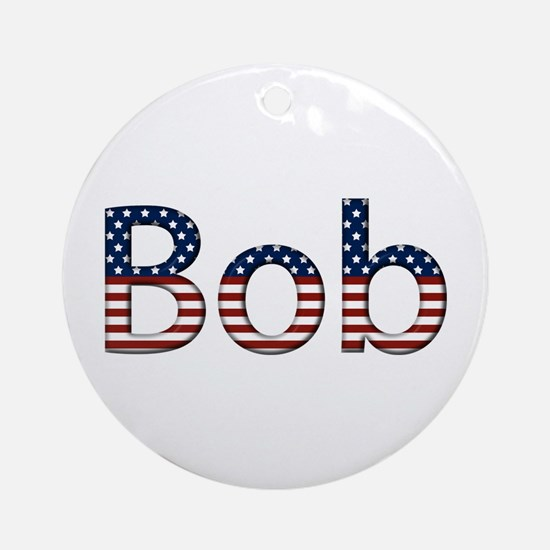 Bob Stars and Stripes Round Ornament