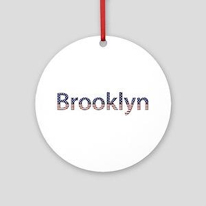 Brooklyn Stars and Stripes Round Ornament