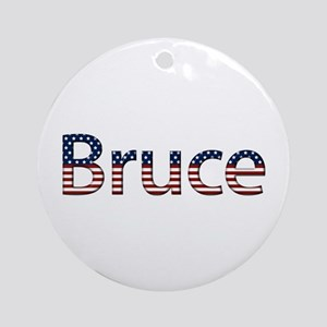 Bruce Stars and Stripes Round Ornament