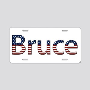Bruce Stars and Stripes Aluminum License Plate