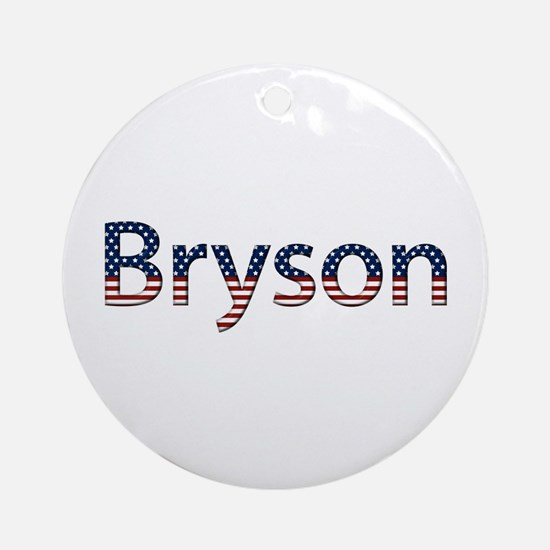 Bryson Stars and Stripes Round Ornament