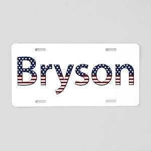 Bryson Stars and Stripes Aluminum License Plate