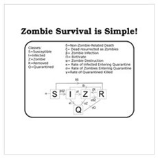 """""""Zombie Mathematical Model"""" Poster"""