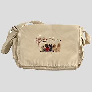 Cairn Terrier Friends Messenger Bag