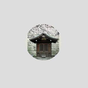 Cherry Blossoms and Shrine in Mini Button