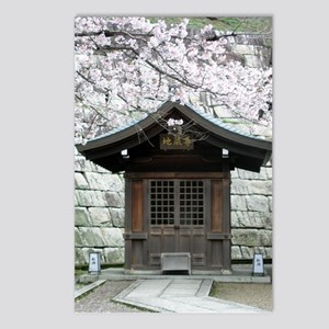 Cherry Blossoms and Shrine in Postcards (Package o