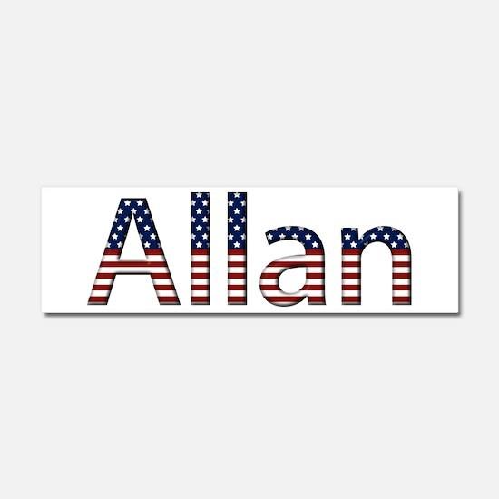 Allan Stars and Stripes 10x3 Car Magnet