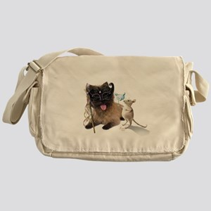 Cairn Terrier with Rat Messenger Bag