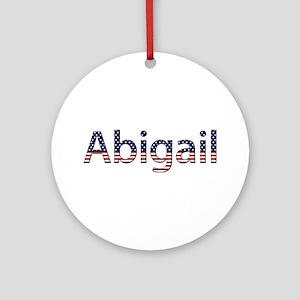Abigail Stars and Stripes Round Ornament