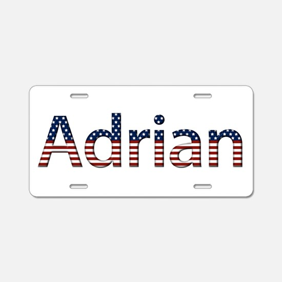 Adrian Stars and Stripes Aluminum License Plate