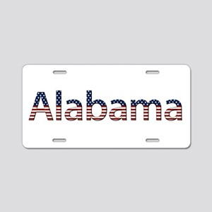 Alabama Stars and Stripes Aluminum License Plate