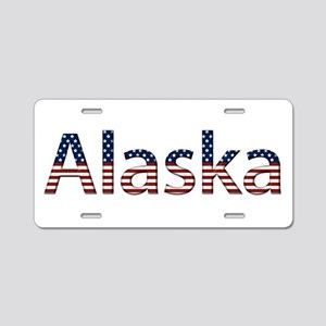 Alaska Stars and Stripes Aluminum License Plate