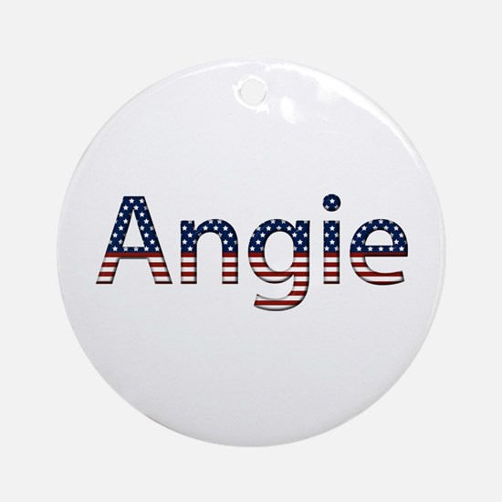 Angie Stars and Stripes Round Ornament