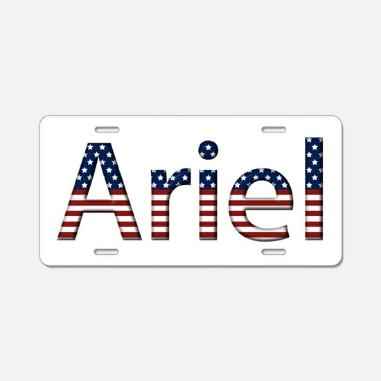 Ariel Stars and Stripes Aluminum License Plate