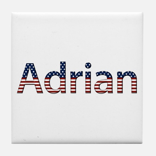 Adrian Stars and Stripes Tile Coaster