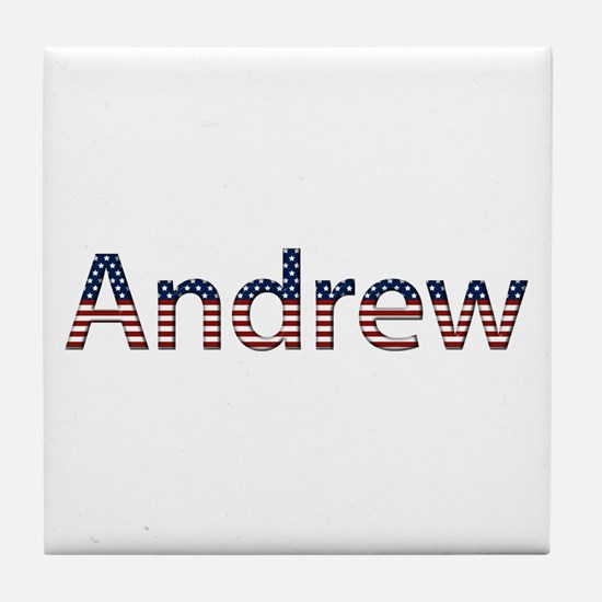 Andrew Stars and Stripes Tile Coaster