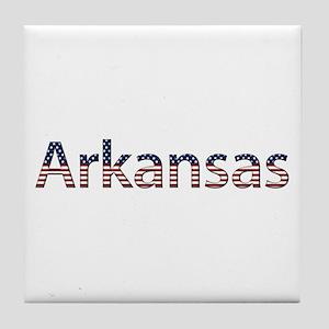 Arkansas Stars and Stripes Tile Coaster