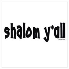 Shalom Y'All Jewish Framed Print