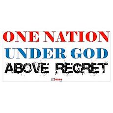 One Nation Above Regret Poster