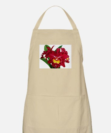 Orchid Oil on Canvas BBQ Apron