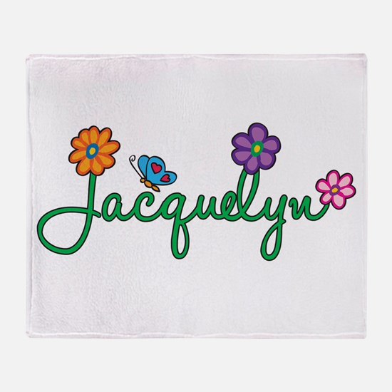Jacquelyn Flowers Throw Blanket