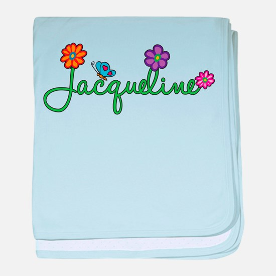Jacqueline Flowers baby blanket