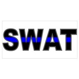 Swat blue line Framed Prints