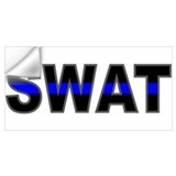 Swat blue line Wall Decals