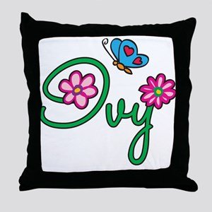 Ivy Flowers Throw Pillow