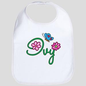 Ivy Flowers Bib