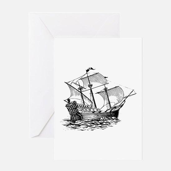 Galleon Ship Greeting Card