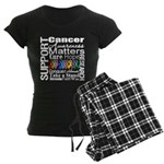Support All Cancers Women's Dark Pajamas
