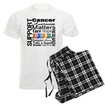 Support All Cancers Men's Light Pajamas